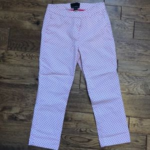 Cynthia Rowley pink and white capris 6